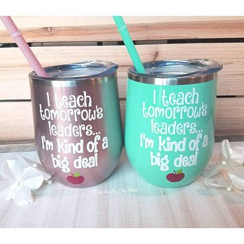 Custom Teaching Wine Tumbler