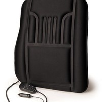 RoadPro RP-1241HM Suede/Black 12V Heated and Massaging Back Cushion
