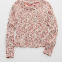 Aerie Fuzzy Sweater , Powder Sky