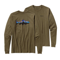 Patagonia Men's Long Sleeve Fitz Roy Trout T-Shirt- Fatigue Green
