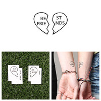 Inseparable - Temporary Tattoo (Set of 2)