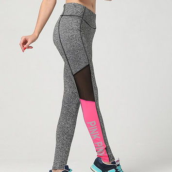 Victoria's Secret PINK Letter Elasticity Movement Leisure Yoga Pants
