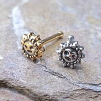 20g Sun Silver or Gold Nose Ring