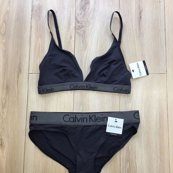 """ Calvin Klein "" Top Women Tank Top Underwear Panties Set"