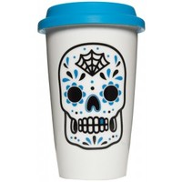 SOURPUSS SUGAR SKULL TUMBLER BLUE
