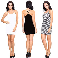 Women Summer Bandage Bodycon Evening Sexy Party Cocktail Backless mini Dress = 1947047876