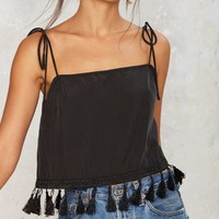 After Party Vintage Hang With Me Tassel Top