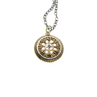 Elements Earth Virtue Sterling Silver Bronze Necklace