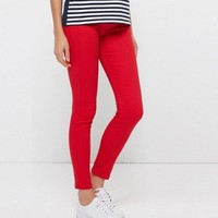 Women Pants Brief Style Trousers Solid Candy Colores Plus Size Slim Fit Pencil Jeans For Female