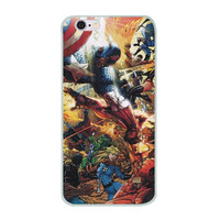 "Captain America Vs. Iron Man (Civil War) TPU Silicone Case for Iphone 6/6s PLUS (5.5"")"