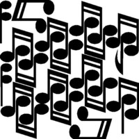 Music Notes Wall Decals Removable Music Wall Stickers, Black
