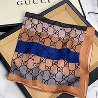 GG Women's Double G Jacquard Square Scarf