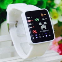 Minecraft Fashion LED Touch Screen Wristwatch -White or Black