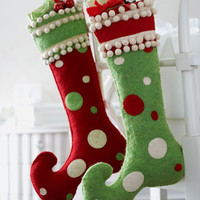 """""""Jester"""" Christmas Stocking - Horchow"""
