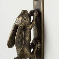 Swinging Hare Door Knocker by Anthropologie in Carbon Size: One Size Hardware