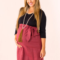 Actually Adorable Maternity Dress in Black