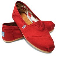 TOMS Shoes Red Canvas Classics