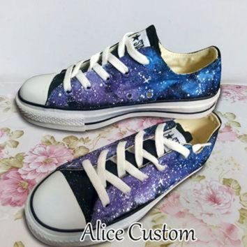 CREYUG7 Converse Galaxy Low waist Shoes-Hand Paint Converse Sneakers, Custom Converse,Special