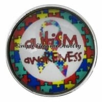Autism Awareness Snap 20mm for Snap Charms
