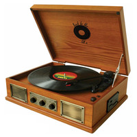 Back To The 50's  3 Speed Wooden Turntable - Reconditioned