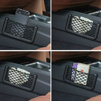 Car Net Organizer Pockets Net car storage 15X8cm Automotive Bag With Adhesive Visor = 1669424900