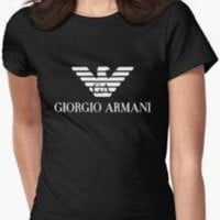 Giorgio Armani Popular Women Men Leisure Print Short Sleeve Top T-Shirt I