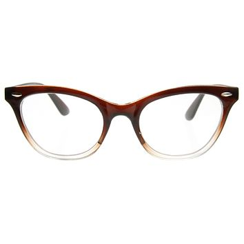 Retro 1950's RX Cat Eye Clear Lens Glasses 8532