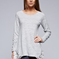 Two Tone Knit Sweater - Two Options