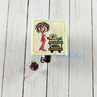 Feltie Badge Reel, Pediatric Nurse Badge Reel, Felt Badge Reel, Nurse ID Badge Holder, Medical Badge Reel, Nurse Badge Reel