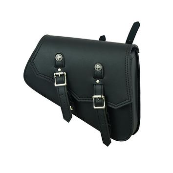 Leather Swing Arm Bag w/Buffalo Snaps - Right Side w/Built In Holster By Daniel Smart