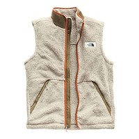 Men's Campshire Sherpa Vest in Granite Bluff Tan & Botanical Garden Green by The North Face