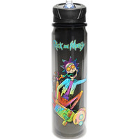 Rick And Morty Skateboard Water Bottle