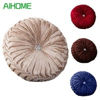 Velvet + PE Foam Round Chair Cushion Seat Pad For Patio Home Car Office Floor Pillow Insert Filling Memory Foam Tatami Cushion