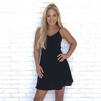 Forbidden Love Black Skater Dress