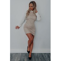Eyes For You Dress: Nude/White