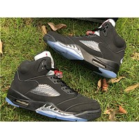 "Air Jordan 5 O G ""Black Metallic "" Basketball Shoes 40-47"