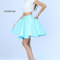 Sherri Hill 32247 Short Beaded Crop Top Prom Dress