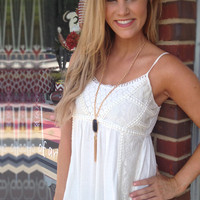 Baby, Be Mine Lace Top - White