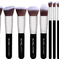 10 pc Kabuki Makeup Brush Set Cosmetic Foundation Blending Blush Eyeliner Face Powder Contouring