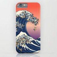 The Great Wave of Pug iPhone & iPod Case by Huebucket | Society6