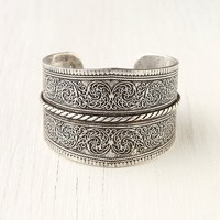 Free People Silver Twist Detail Cuff