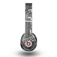 The Smudged White and Black Anchor Pattern Skin for the Beats by Dre Original Solo-Solo HD Headphones