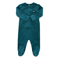 Kipp Baby Blue Velour Footie