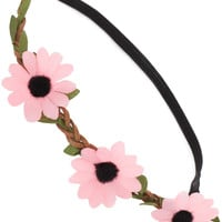 Brandy Floral Headband in Light Pink