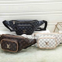 *Louis Vuitton* Fashion Leather Shoulder Bag Single Bag Waist Bag