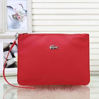 Lacoste Woman Men Fashion Leather Tote Satchel Clutch Bag