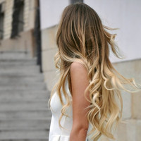 Ombre Ombre Hair, Ombre Tape Hair Extensions/Dark Blonde Medium Blond Hair Extensions/(60) Pieces/18""