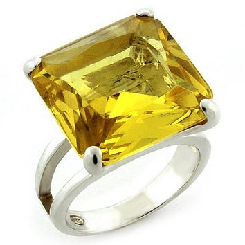 Men's Silver Band Rings LOAS871 - 925 Sterling Silver Ring in Citrine