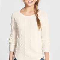 Junior Women's BP. Cable Knit Pullover