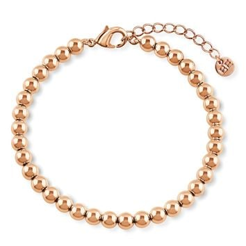 Rose Gold-Tone Bead Bead BraceletBe the first to write a reviewSKU# b288-03
